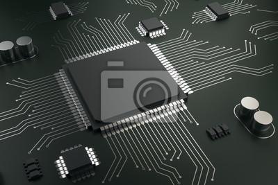 Papiers peints Creative blank circuit chip