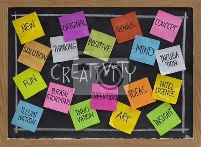 Papiers peints créativité nuage de mots sur le tableau noir