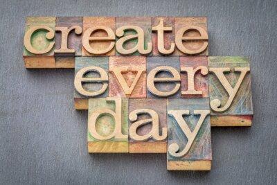 Papiers peints Créer chaque jour dans le type de bois