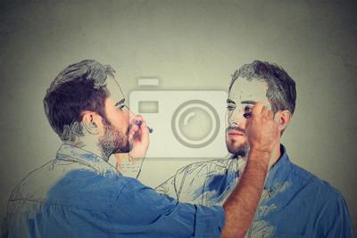 Papiers peints Créez-vous un concept. Beau, jeune, dessin, dessin, image, croquis ...