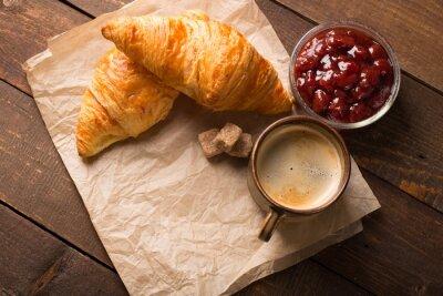 Papiers peints Croissant, café