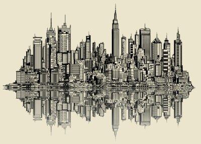 Papiers peints croquis de New York