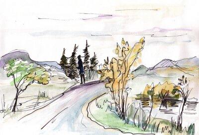 Papiers peints Croquis instantané, Islande