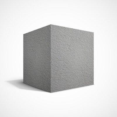 Papiers peints Cube de béton
