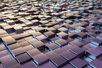 Papiers peints Cubes métalliques pourpres