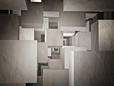Papiers peints cubi abstrait