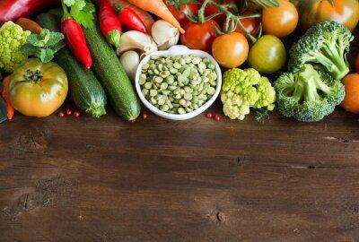 Papiers peints Cuit, sec, sec, vert, pois, dans, a, bol, à, légumes