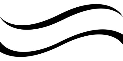 Papiers peints Curved calligraphic line strip, vector, ribbon like road element of calligraphy gracefully curved line