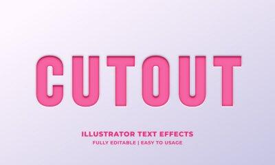 Papiers peints Cutout Text Style Effect