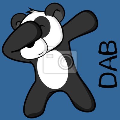 Papiers Peints Dab Dabbing Pose Dessin Animé Enfant Panda Bear En Format Vectoriel