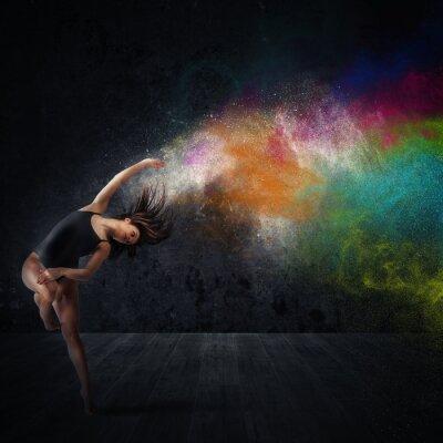 Papiers peints Danse avec pigments colorés