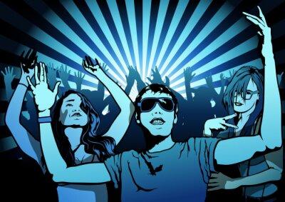 Papiers peints Danse populaire sur Disco Party - Illustration, vecteur