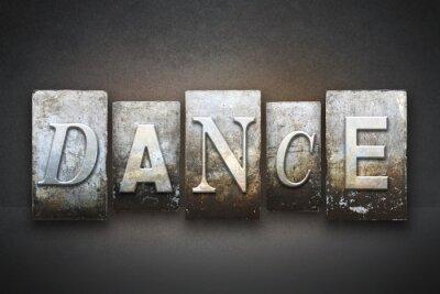 Papiers peints Danse typographique