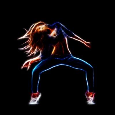 Papiers peints Danseuse hip-hop