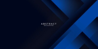 Papiers peints Dark blue background with abstract graphic elements for presentation background design.