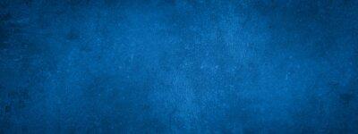 Papiers peints Dark blue stone concrete paper texture background banner panorama with vignette