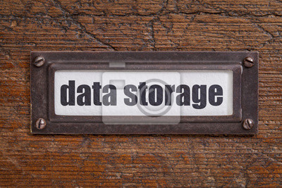 Papiers peints data storage file cabinet  label