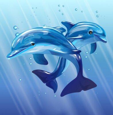 Papiers peints dauphins