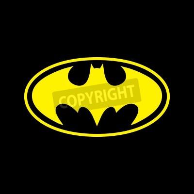 Papiers peints DC comics superhero Batman logo yellow on black background