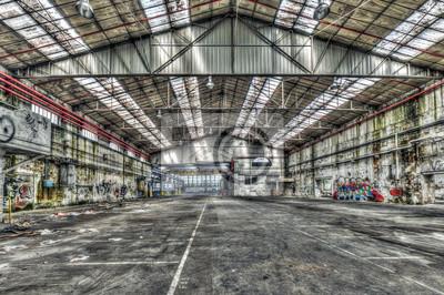 Decaying Hall Industriel Dans Une Usine Desaffectee Papier Peint
