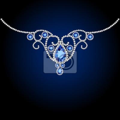 Décoration de diamants bijoux et saphir. Illustration vectorielle