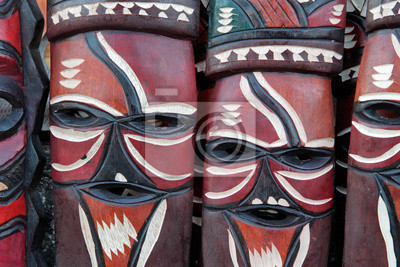 Décoré à la main fait des masques en bois africains