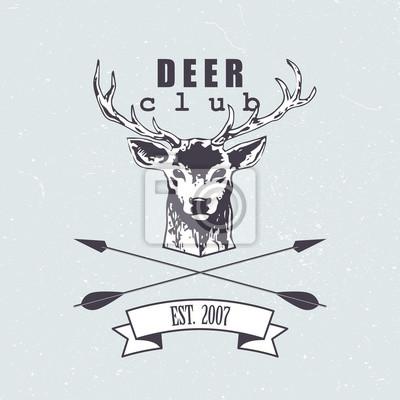 Deer club emblem