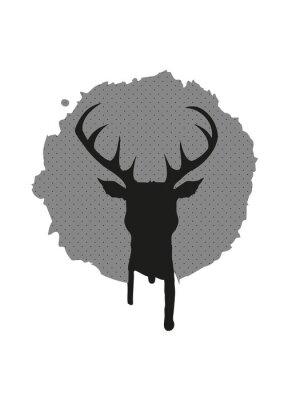 Papiers peints Deer, tête Graffiti