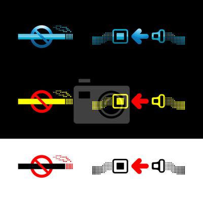 """""""Défense de fumer"""" et """"ceinture de sécurité"""" Fixer des signes"""