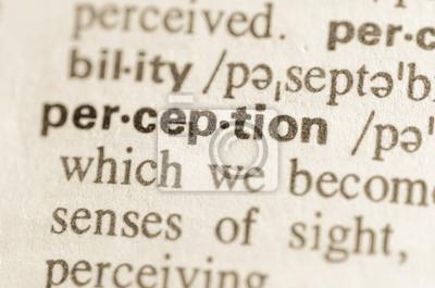 Papiers peints Définition du dictionnaire du mot perception