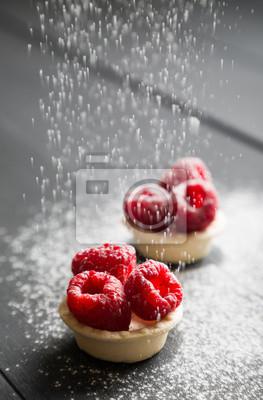 Délicieuses tartes aux framboises fraîches