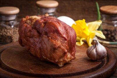 Delicious smoked ham.