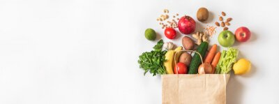 Papiers peints Delivery or grocery shopping healthy food