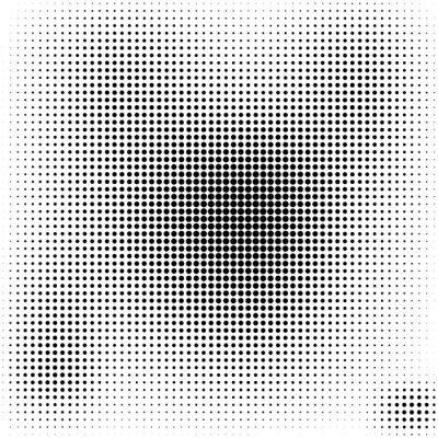 Papiers peints Demi-teinte points fond noir et blanc élégant
