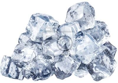 des blocs de glace