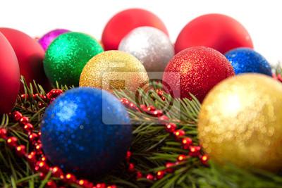 Papiers peints Des boules de Noël de cônes de sapin