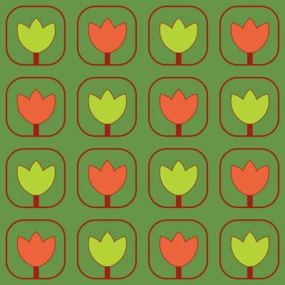 Papiers peints des échantillons de tissu de tulipes