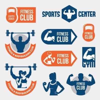 Papiers peints Des étiquettes de couleur salle de gym