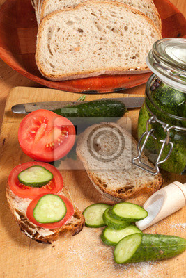 des ingrédients végétaux de petit déjeuner