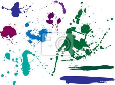 des taches et des éclaboussures de couleur