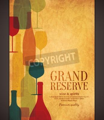 Papiers peints Design de liste de vins