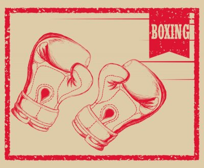Papiers peints Design de sport de boxe