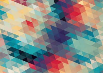 Papiers peints design plat rétro géométrique fond coloré