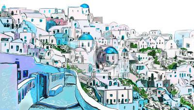 Dessin à la ville grecque