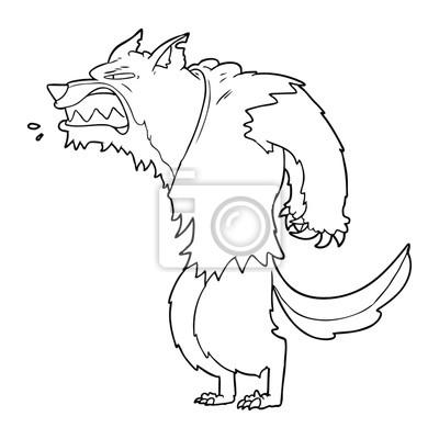 Dessin Anime De Loup Garou En Colere Papier Peint Papiers Peints Scarey Skittish Loup Garou Myloview Fr