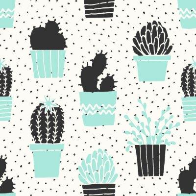 Papiers peints Dessin, cactus, dessin