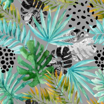 Papiers peints Dessin dessiné, fond d'été tropical