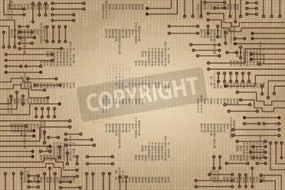 Papiers peints Dessin, moderne, électronique, circuit, binaire, code