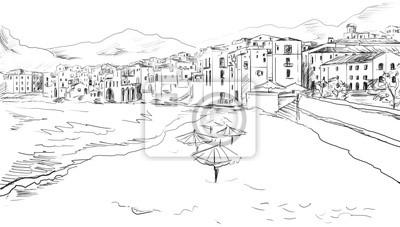 Dessinez à la ville grecque