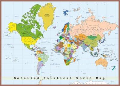 Papiers peints Détail Carte du monde politique